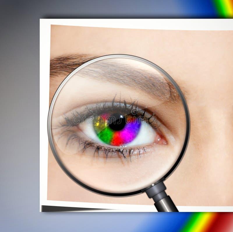 Kreatives Auge lizenzfreie stockbilder