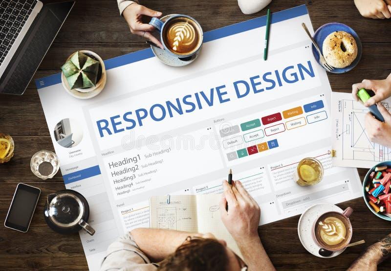Kreatives Beispielwebsite-Design-Schablonen-Konzept lizenzfreies stockbild