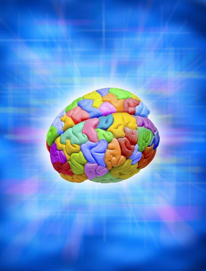 Kreatives buntes Gehirn lizenzfreie stockbilder