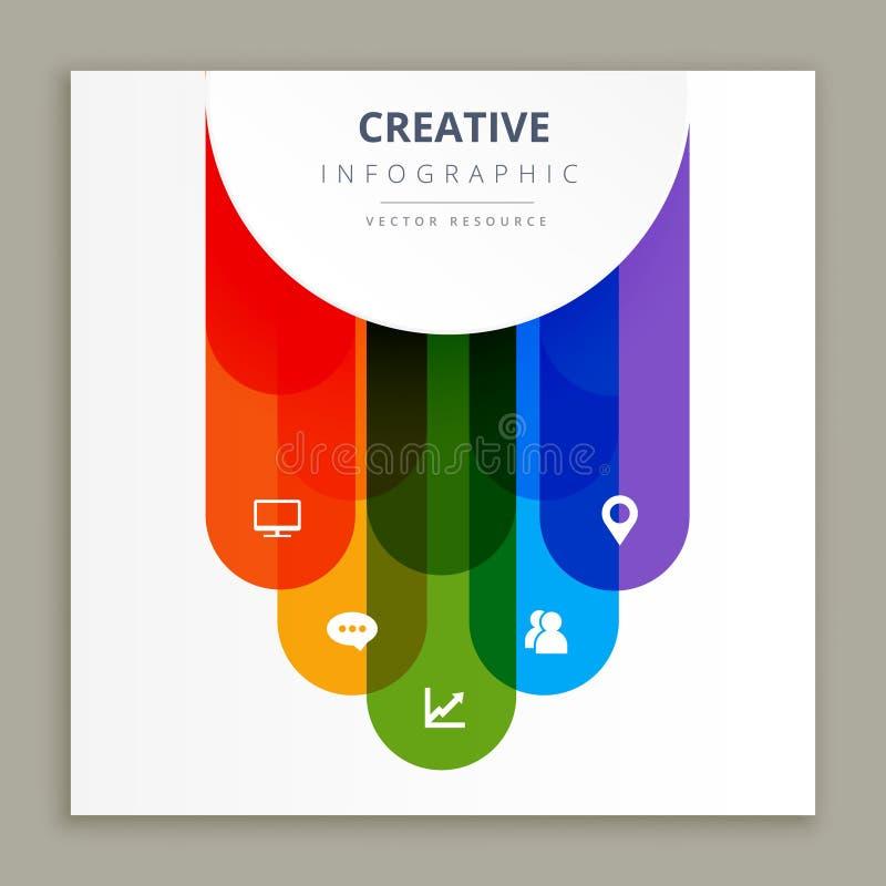 Kreatives Design Infographic-Ikonen lizenzfreie abbildung