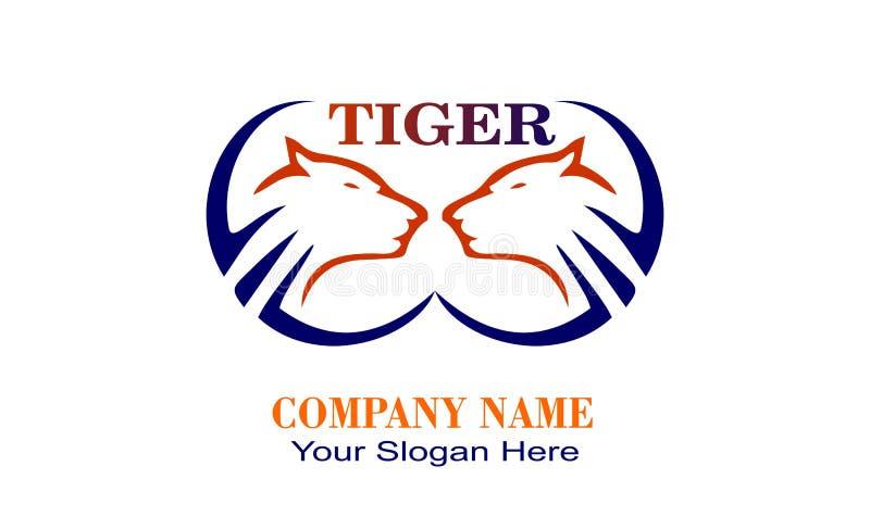 kreatives einzigartiges Tigerdesignlogo lizenzfreies stockfoto