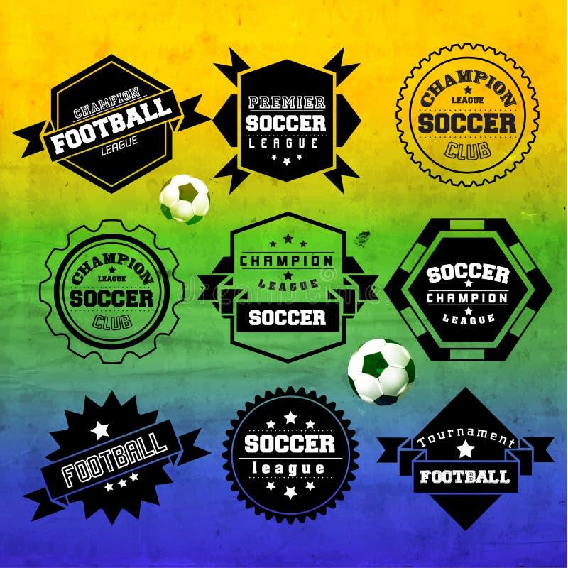 Kreatives Fußball-Vektor-Design lizenzfreie abbildung
