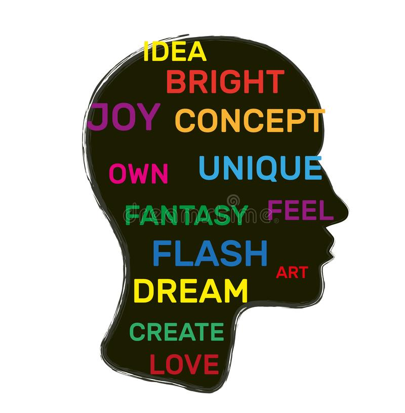 Kreatives Gehirnkonzept Vector-Illustration vektor abbildung