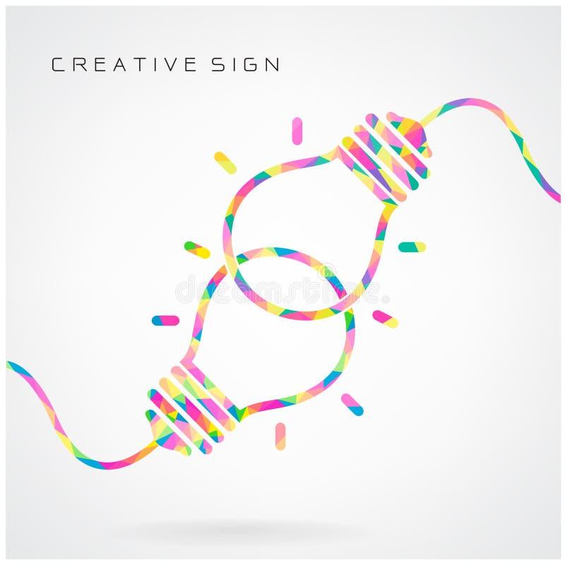 Kreatives Glühlampe Ideenkonzept-Hintergrunddesign für Plakatflorida lizenzfreie abbildung