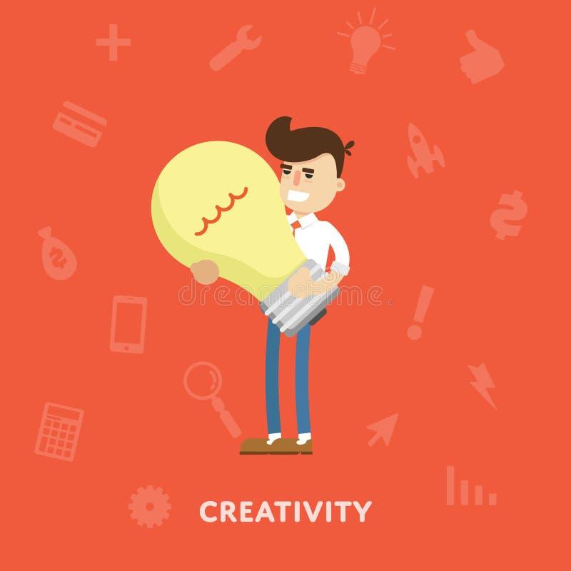 Kreatives Ideengeschäftskonzept vektor abbildung