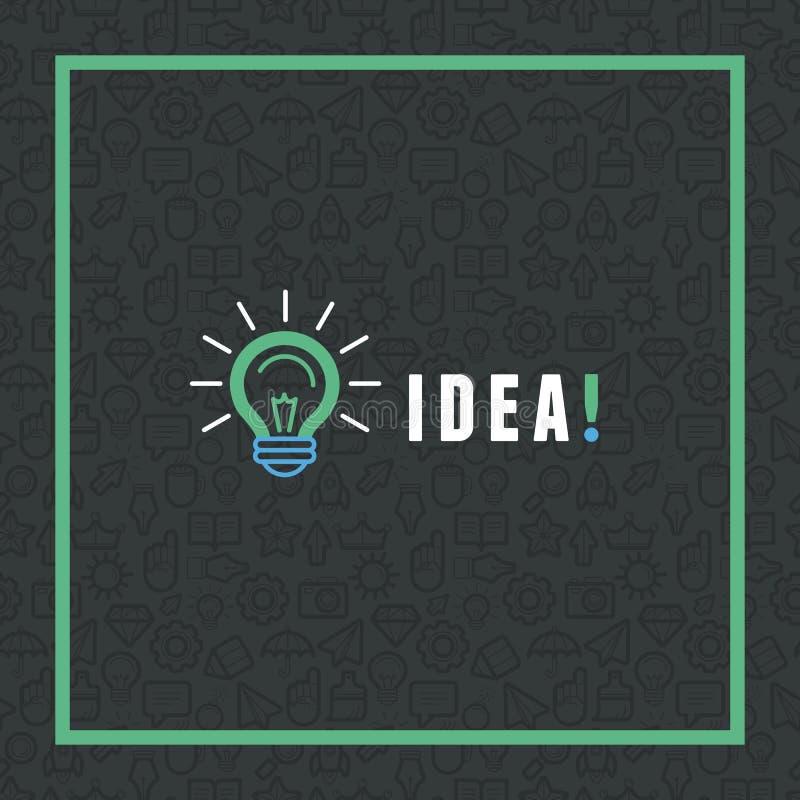 Kreatives Ideenkonzept des Vektors in der flachen Art lizenzfreie abbildung
