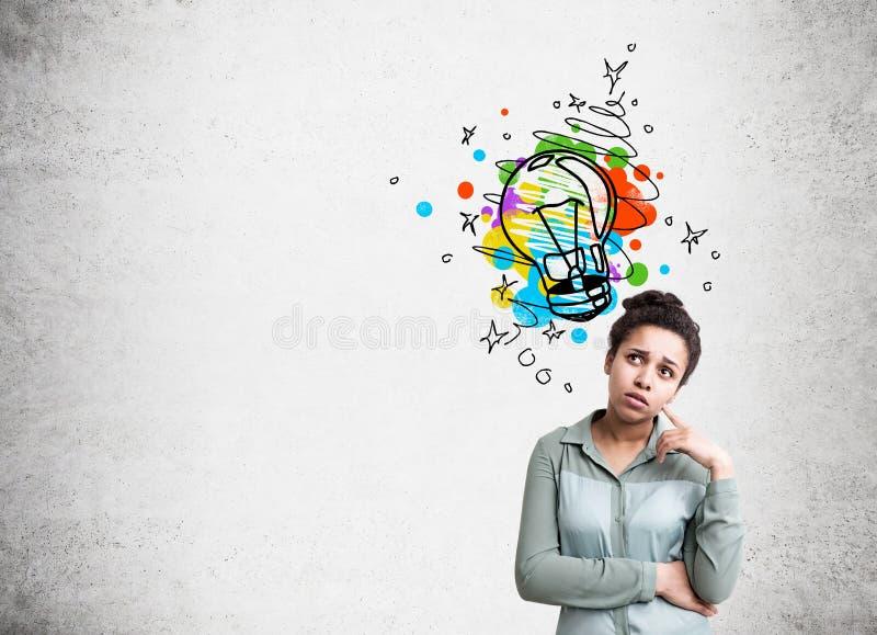Kreatives Ideenkonzept mit Frau vektor abbildung