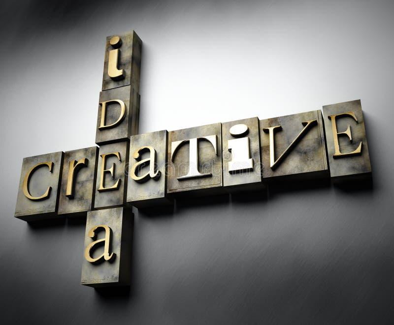 Kreatives Ideenkonzept, Weinlesebriefbeschwerertext vektor abbildung