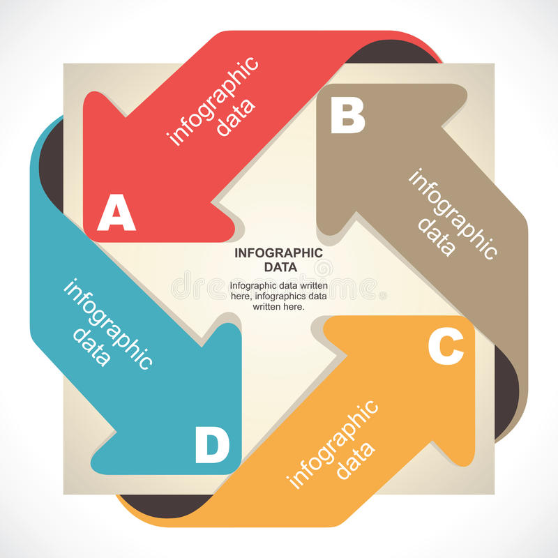 Kreatives infographics lizenzfreie abbildung