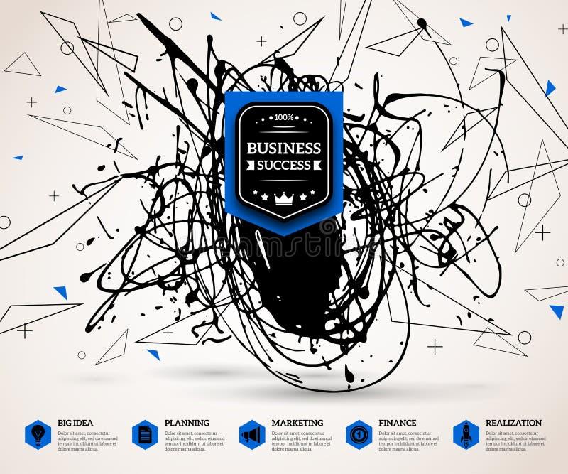 Kreatives infographics Konzept für erfolgreiches vektor abbildung