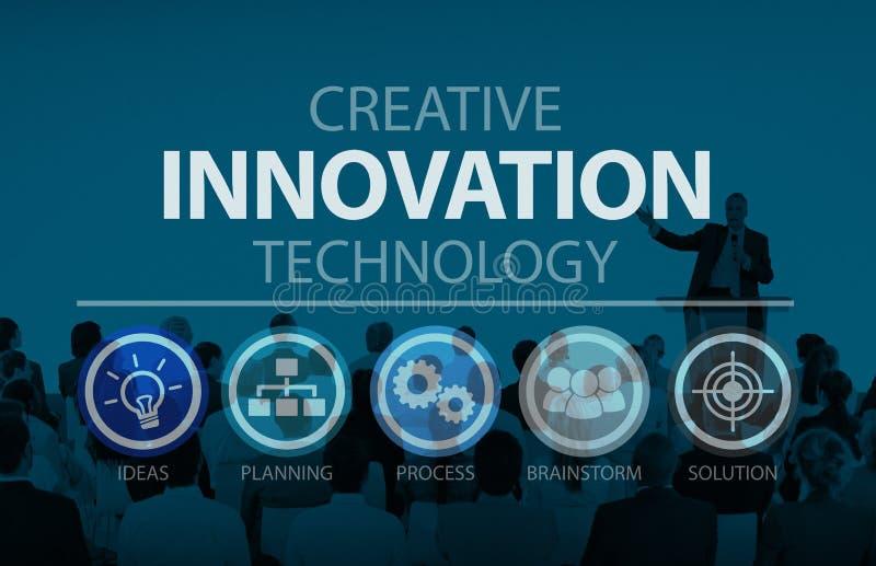 Kreatives Innovations-Entwicklungsstrategie-Verbesserungs-Konzept lizenzfreies stockbild