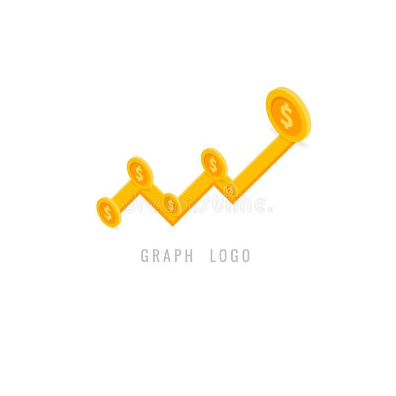 Kreatives Konzept des Diagrammlogos für Netz grafisches Geschäft finanzierung vektor abbildung
