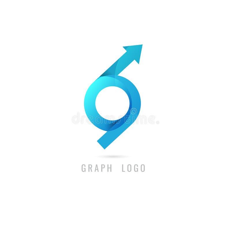 Kreatives Konzept des Diagrammlogos für Netz grafisches Geschäft finanzierung lizenzfreie abbildung
