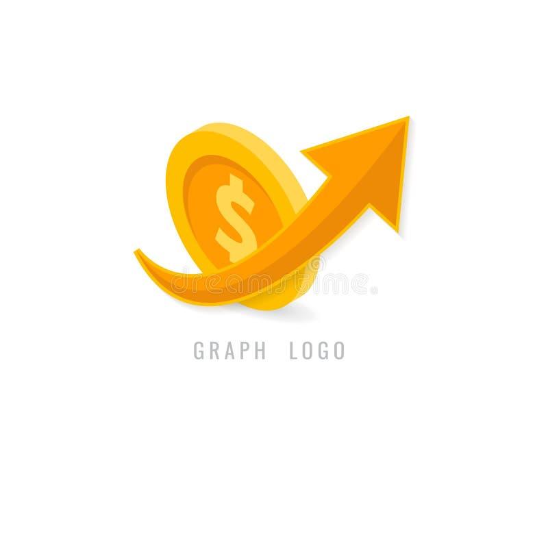 Kreatives Konzept des Diagrammlogos für Netz grafisches Geschäft finanzierung stock abbildung