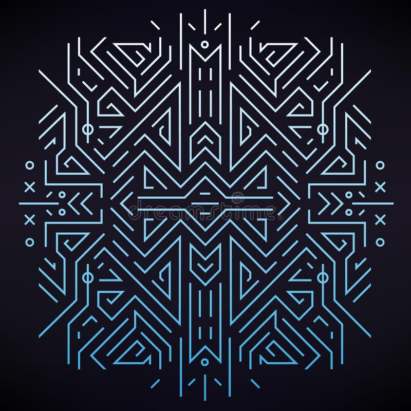 Kreatives Konzept des Vektors Lineares geometrisches Muster, Art Deco, Retrostil vektor abbildung