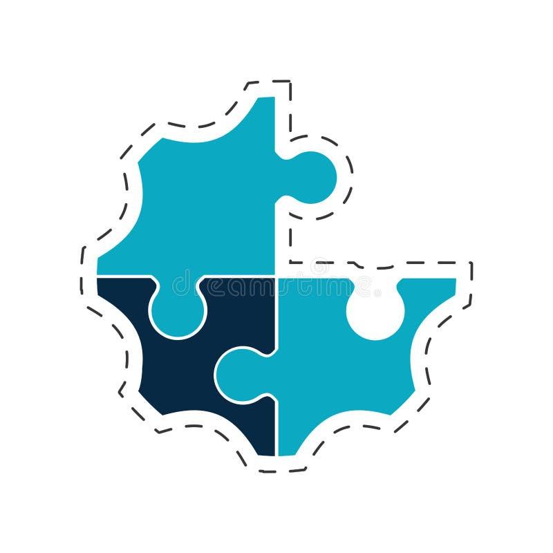 kreatives Lösungsbild des Puzzlespiels lizenzfreie abbildung