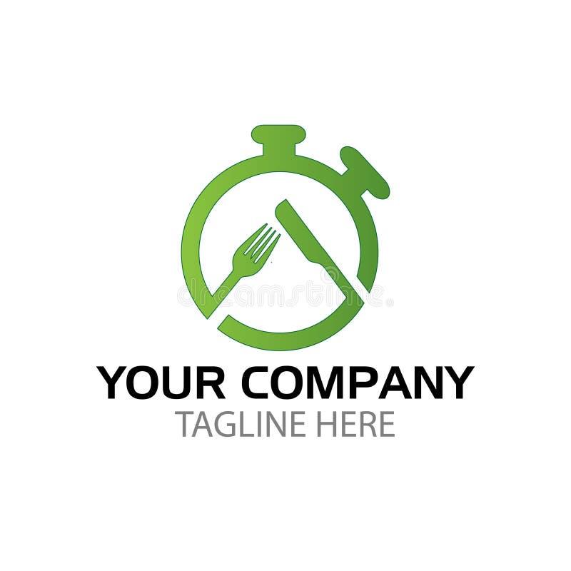 Kreatives Logodesign für Schnellimbiß vektor abbildung