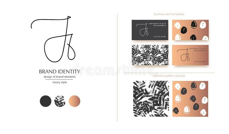 Kreatives Monogramm - Hand gezeichnetes Kalligraphiezeichen Versalienj und Kleinr-Buchstabenkombination Auch im corel abgehobenen stockfotos