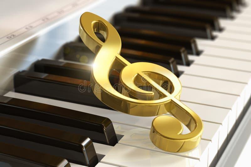 Musikalisches Konzept lizenzfreie abbildung