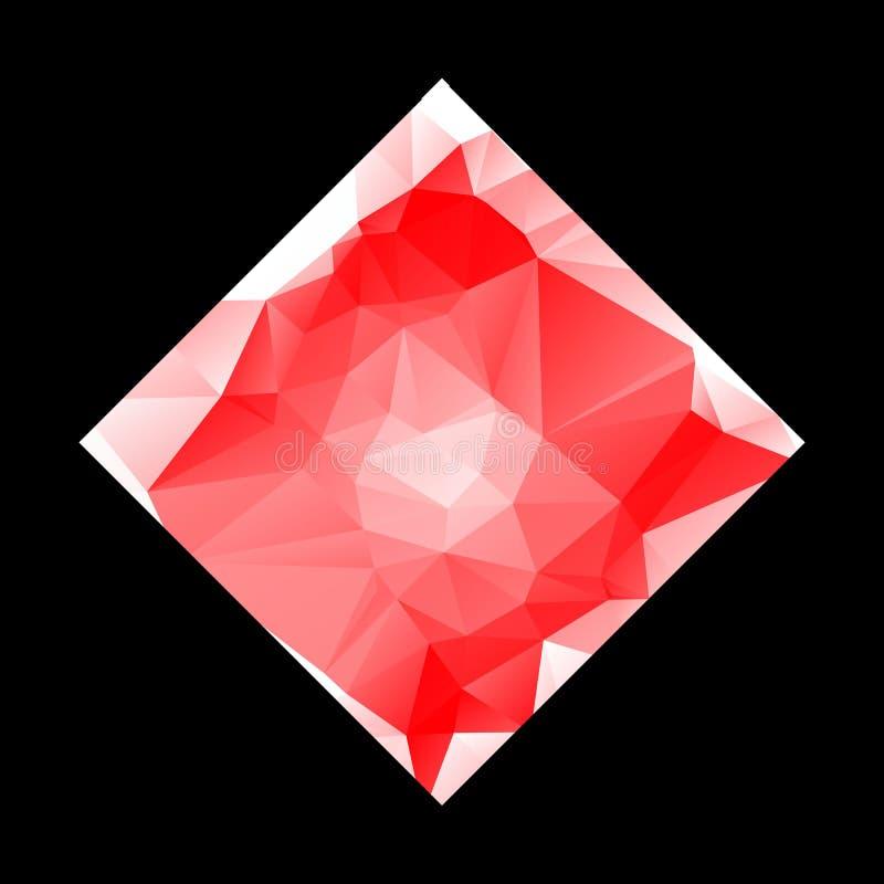 Kreatives Poligonal-Dreieck-wei?er roter Hintergrund mit copyspace auf ihm Niedriges Polydesign Helles Kopien-Raum-Farbmuster EPS vektor abbildung