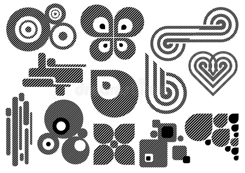 Kreatives Set #25 vektor abbildung