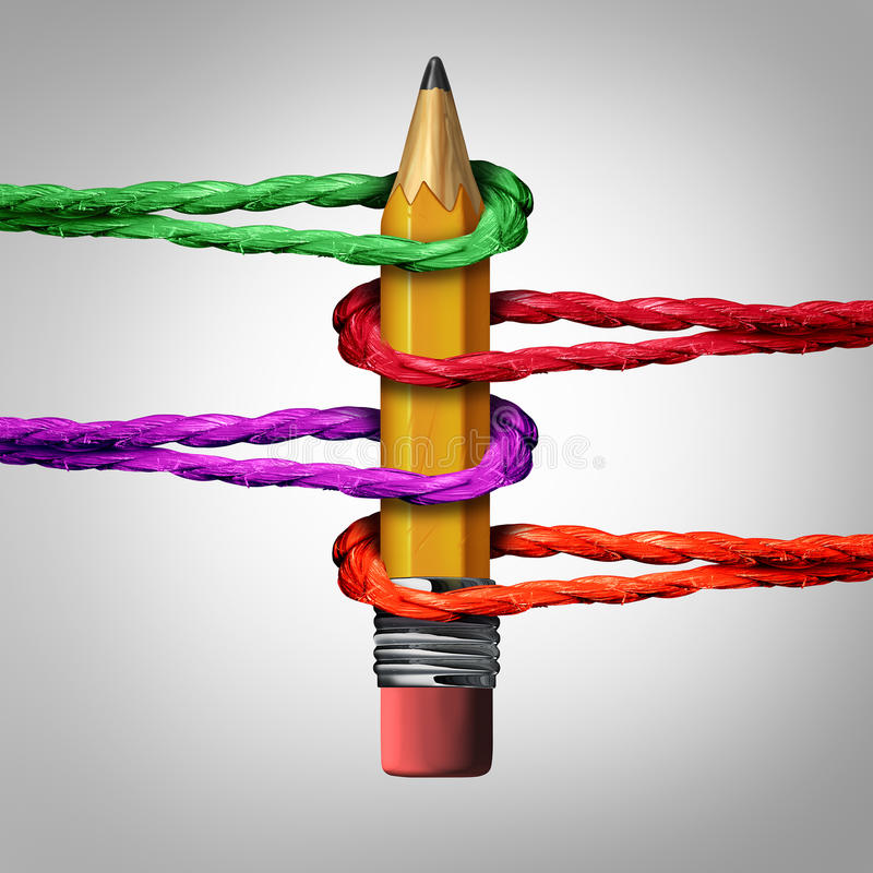 Kreatives Stütznetz stock abbildung