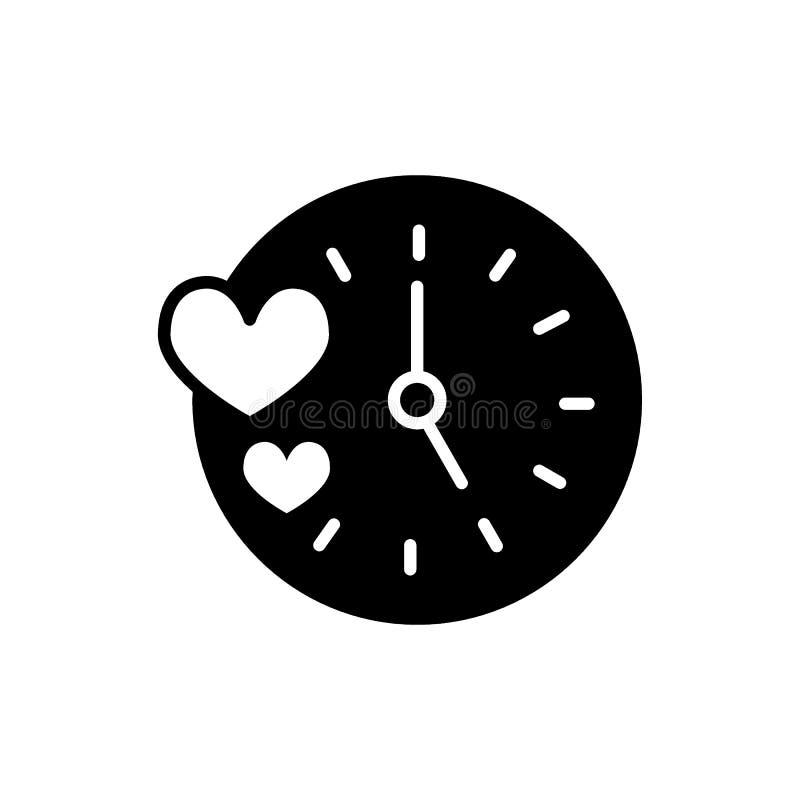 Kreatives Uhrherzdesign Einfache Linie K?rperillustration Lokalisiert auf Wei? vektor abbildung