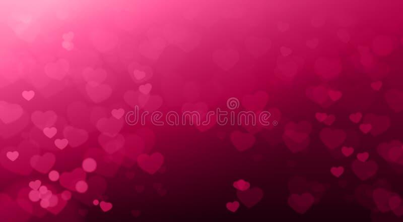 Kreatives Valentinsgruß-Tages-Backgruond unscharfes Herzen Bokeh schönes elegantes vektor abbildung