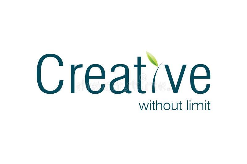 Kreatives Zeichen stock abbildung