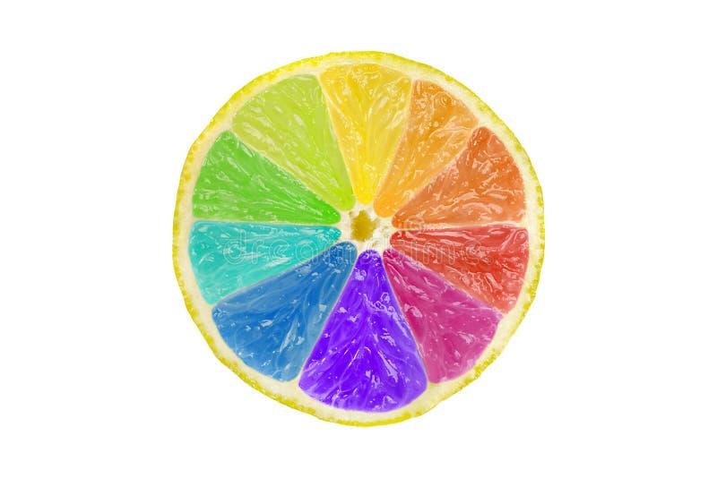 Kreatives Zitrusfrucht-Farbrad stockfoto