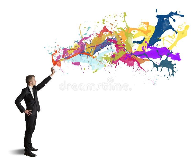 Kreativität im Geschäft lizenzfreie stockfotos