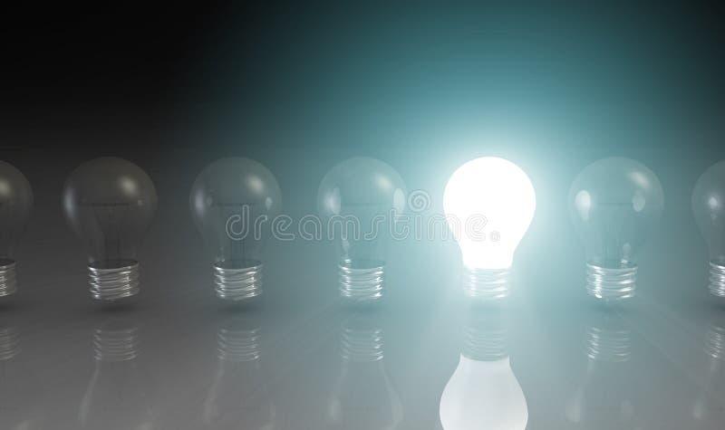 Kreativität-Konzept mit Glühlampe lizenzfreie abbildung