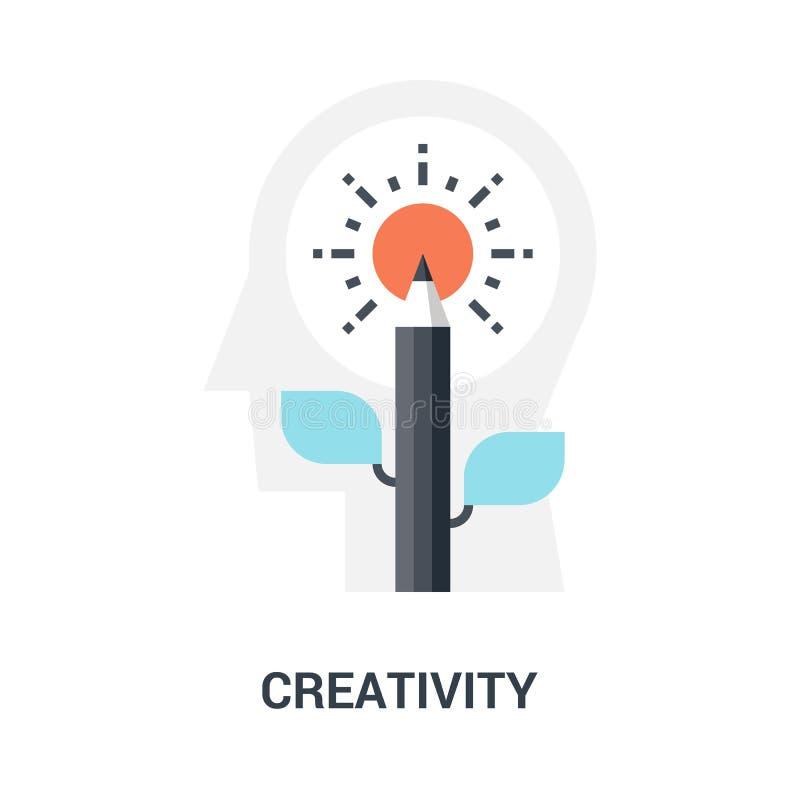Kreativitätsikonenkonzept stockfoto