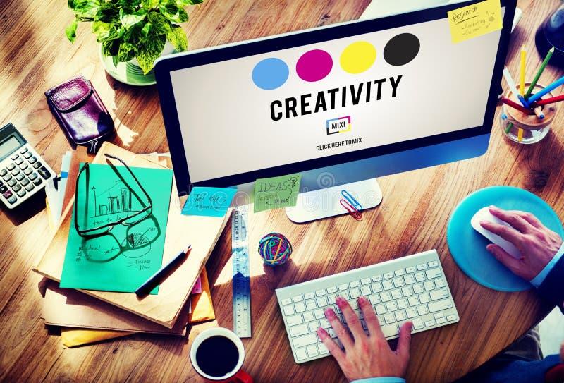 Kreativitetambitioninspiration inspirerar expertisbegrepp vektor illustrationer