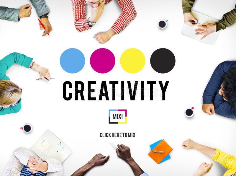 Kreativitetambitioninspiration inspirerar expertisbegrepp arkivbilder
