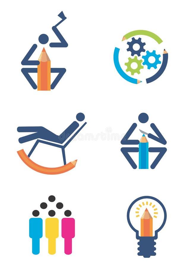 kreativitetdesignsymboler stock illustrationer