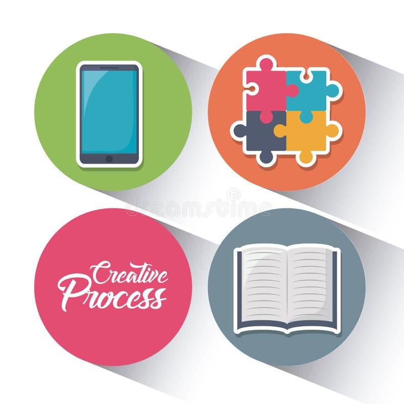 Kreativitetprocessdesign stock illustrationer