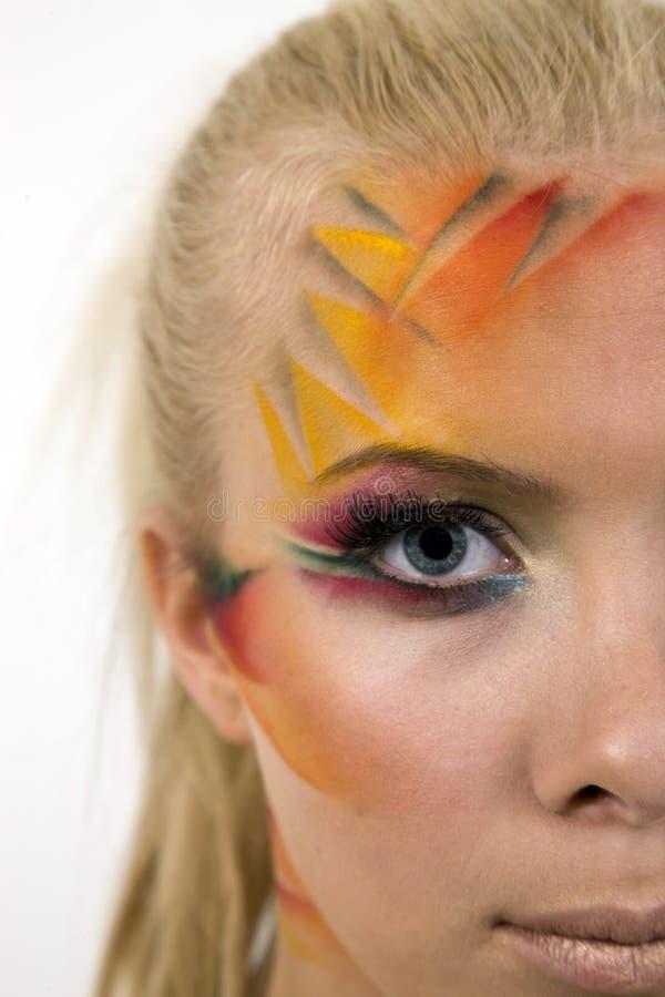 kreatywne artystycznego makijażu kobiet miłe młode obrazy royalty free