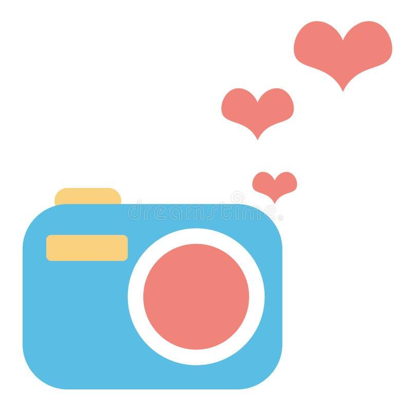 Kreatywnie śliczna kamery ikona Kolorowy pojęcie grafiki logo ilustracji