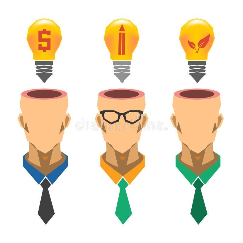 Kreatywnie żarówka pomysłu pojęcie, biznesowy pomysł, ekologia pomysł obrazy stock