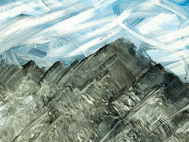 Kreatywnie abstrakcjonistyczna ręka malował tło, tapeta, tekstura, c ilustracji