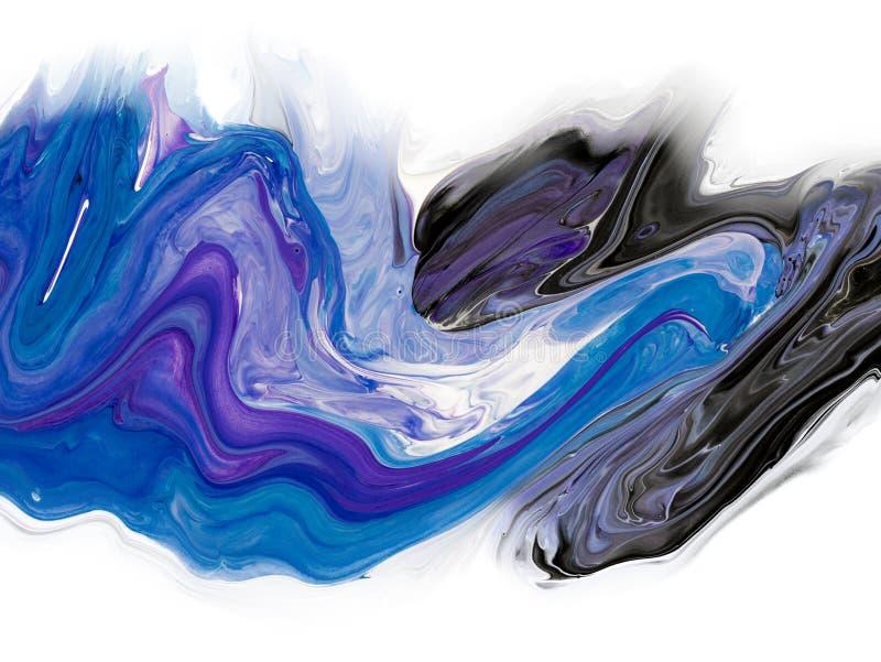 Kreatywnie abstrakcjonistyczna r?ka maluj?cy t?o, tapeta, tekstura, zako?czenia akrylowy obraz na kanwie z szczotkarskimi uderzen ilustracja wektor