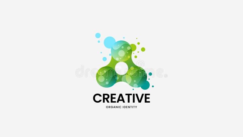 Kreatywnie abstrakcjonistycznej żywności organicznej logo wektorowy znak Logotypu emblemata ilustracja Moda naturalny i zdrowy od royalty ilustracja