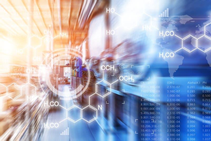 Kreatywnie abstrakcjonistyczny chemiczny naukowy tło zdjęcia stock