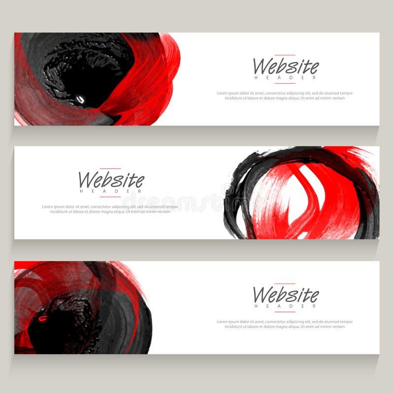 Kreatywnie abstrakcjonistyczny sztandaru set lub ilustracja wektor