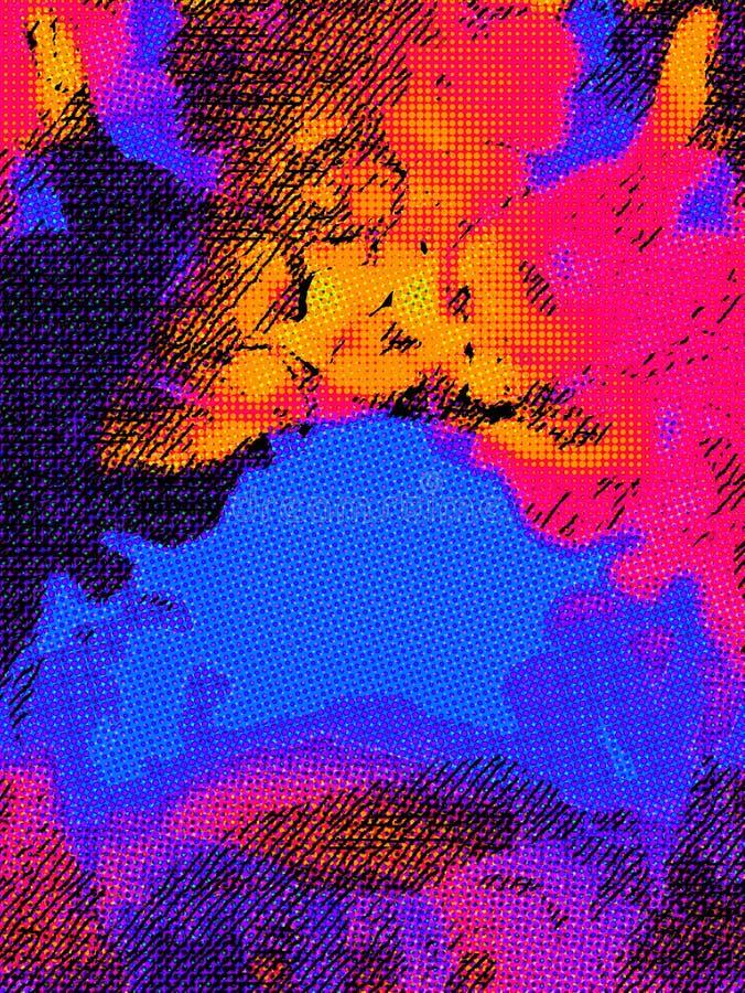Kreatywnie abstrakt malował tło, tapeta, tekstura nowoczesna sztuka Dzisiejsza ustawa obraz stock