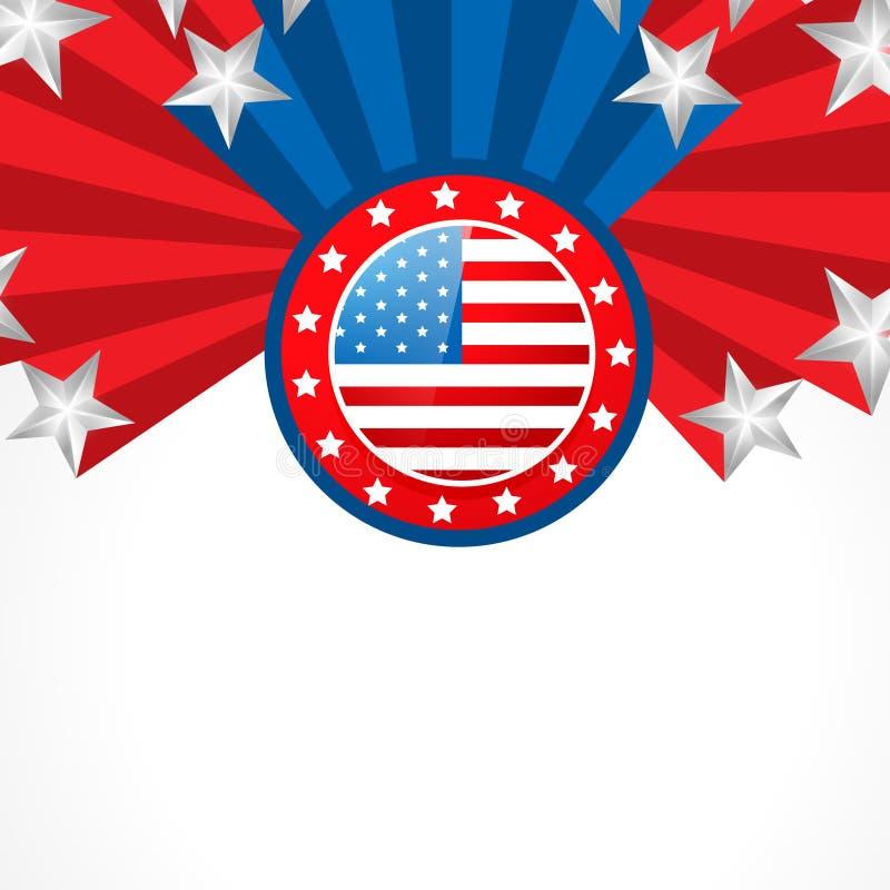 Kreatywnie amrican flaga ilustracji