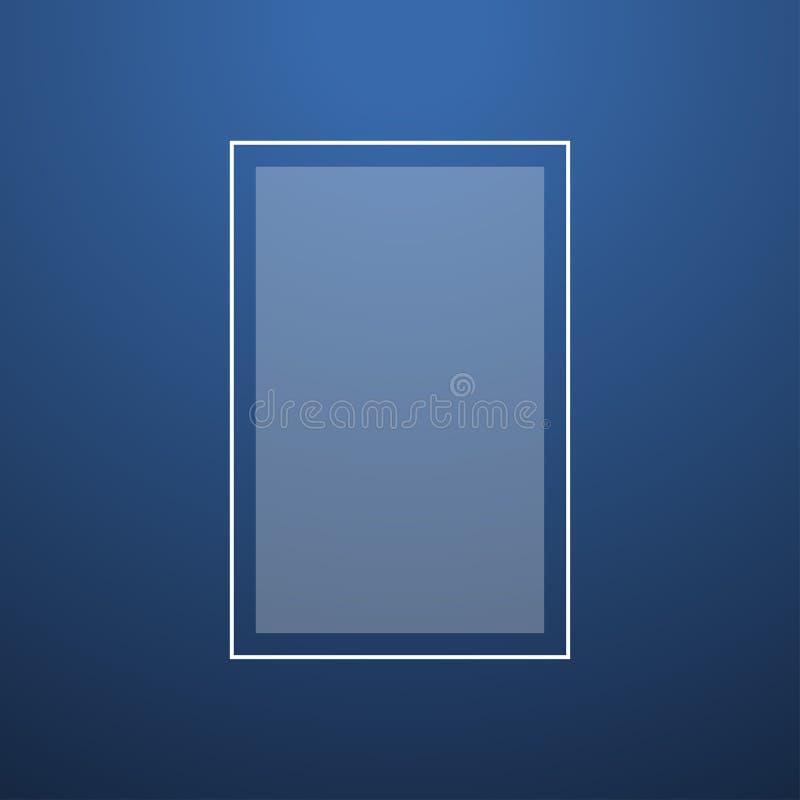 Kreatywnie błękitnego abstrakta tła odgórnego światła gładki wektor royalty ilustracja