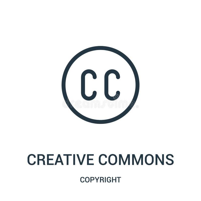 kreatywnie błonie ikony wektor od prawo autorskie kolekcji Ciency kreskowi kreatywnie błonia zarysowywają ikona wektoru ilustracj ilustracja wektor