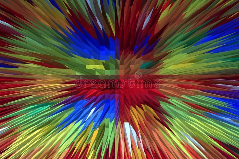 Kreatywnie barwiący wybuch zdjęcia stock